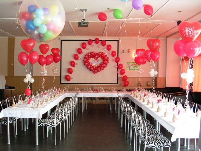 Своими руками украсить зал шарами для свадьбы