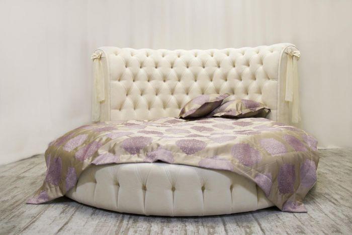 круглая кроватьceppi фабрика Capitone Room купить цена 8800000