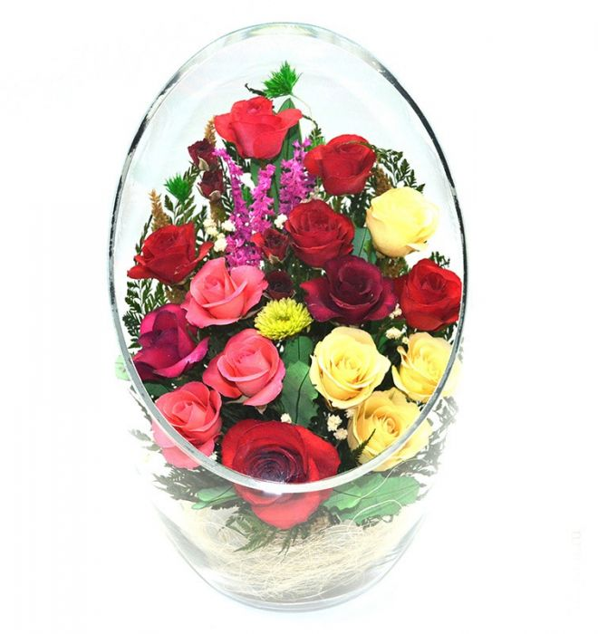 Живые цветы в вакууме цена челябинск бумажные цветы для скрапбукинга купить оптом