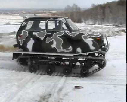 Как сделать из нивы снегоход